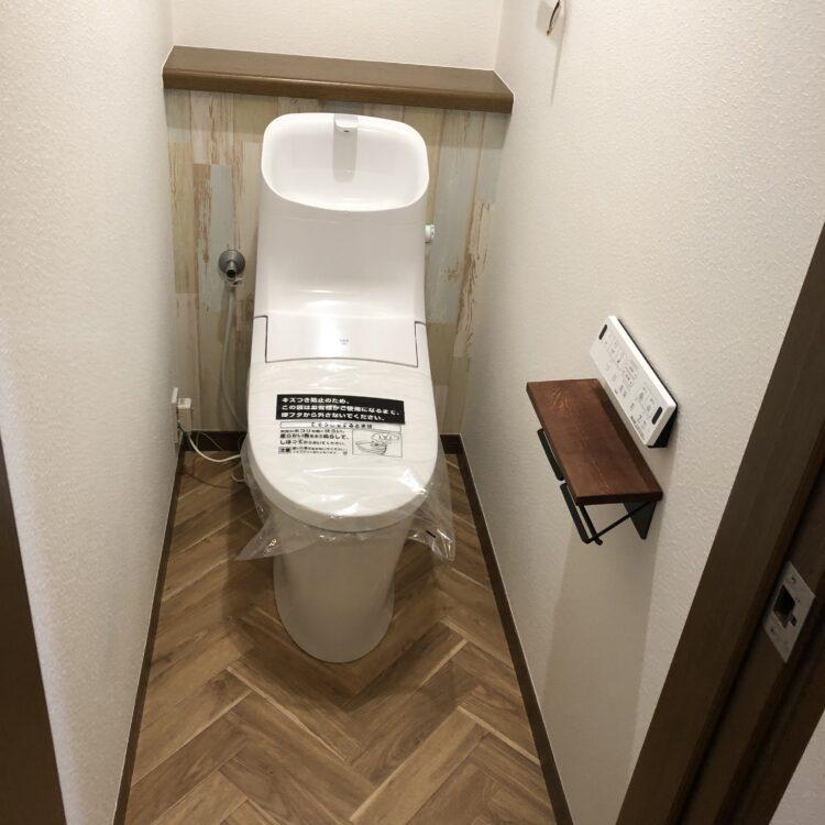 可愛いトイレ ヘリンボーン