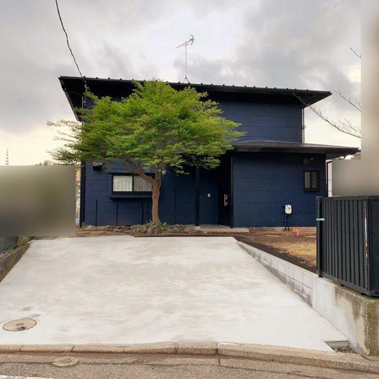 外壁屋根塗装 ウレタン ネイビー