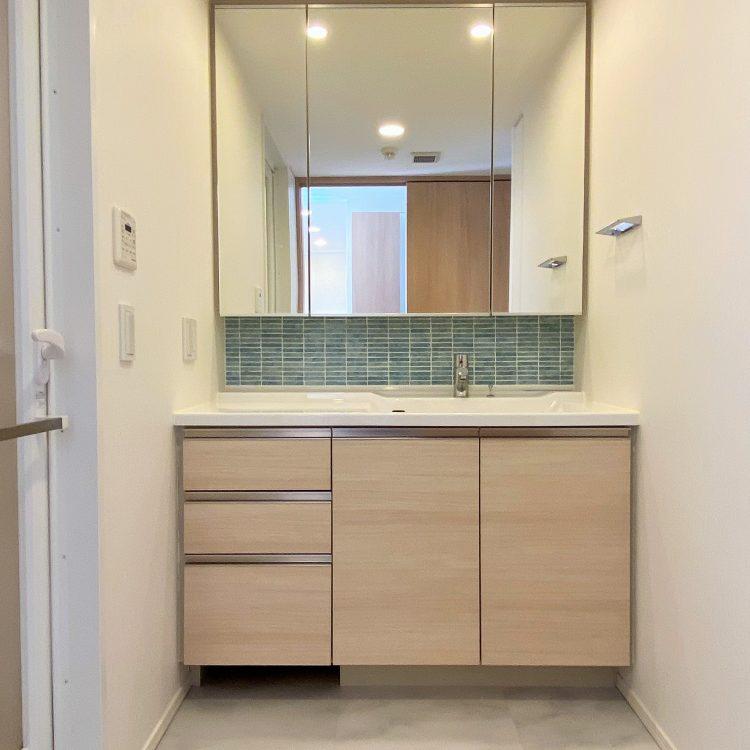 洗面室 モザイクタイル カライビ