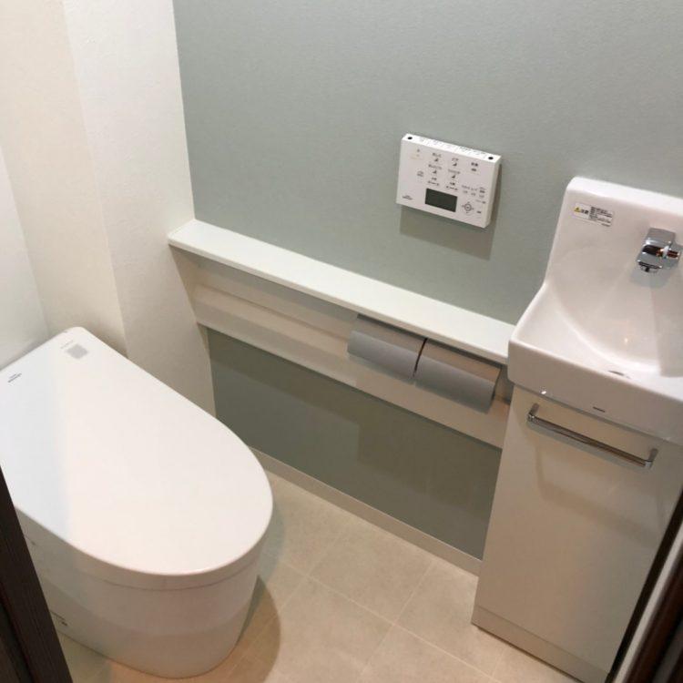 トイレ アクセントクロス 水色 SP9579