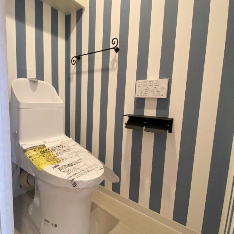 トイレ ストライプ クロス TWP2145