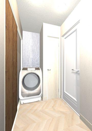 リルトホーム イメージパース 洗面室
