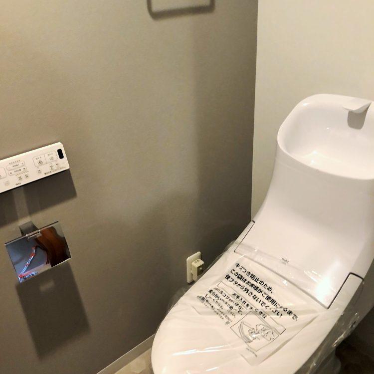 トイレ アクセントクロス グレー LBX9494