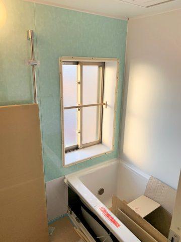 浴室 リフォーム 工事中