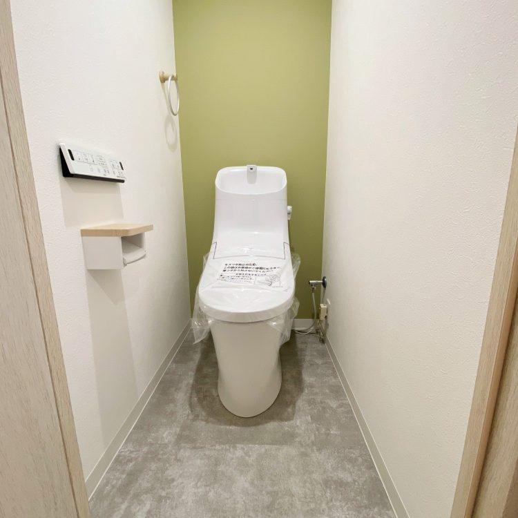 トイレ グリーン アクセントクロス LB-9430