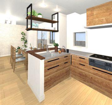 リルトホーム イメージパース キッチン2
